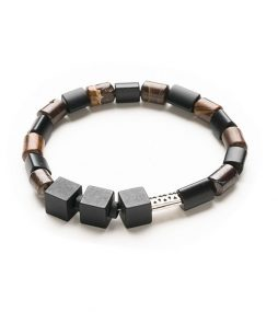 Black Onyx & Australian ironstone bracelet