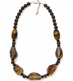 Large faceted Smokey Quartz necklace
