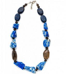 Lapis Lazuli & Smoky Quartz necklace