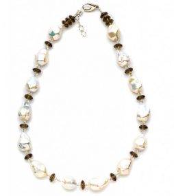 Sensational white Baroque Pearl necklace