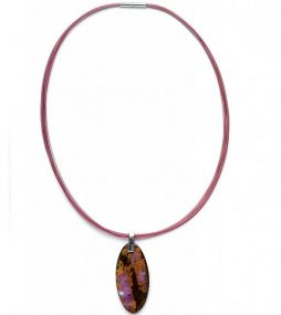 Boulder Opal Pendant necklace on color wire