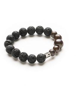 Lava stone & Australian Ironstone bracelet