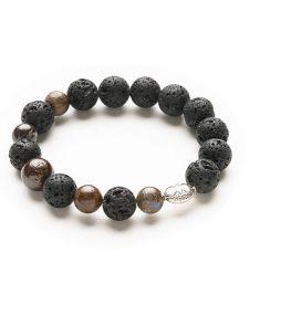 Lava stone & Australian Ironstone bracelet2