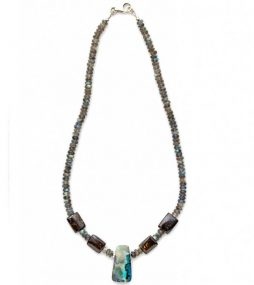 Centered Boulder Opal with Milky Way feel & colors