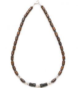 Males Necklace, Custom mens necklace, Unique ironstone necklace, hematite necklace