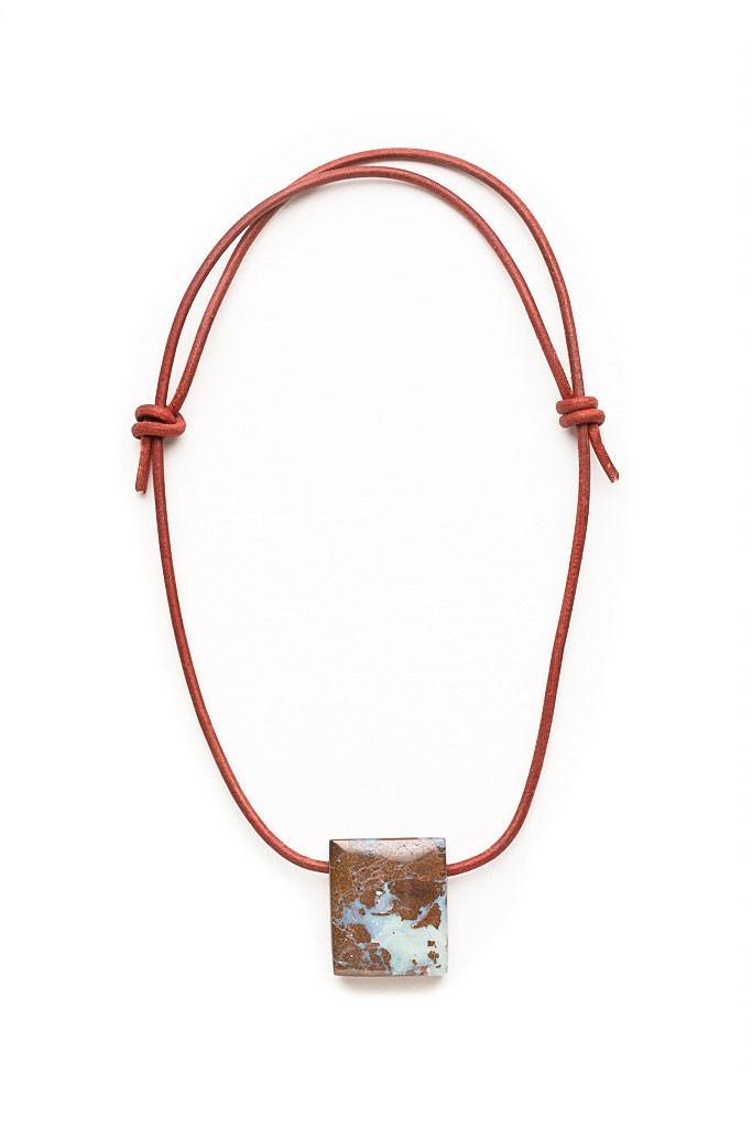 Grey & White Opal, Boulder Opal Pendant, Men's Jewelry, Men's Custom Necklace, Unique Gemstone Necklace