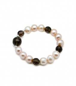 Pearl & Smokey Quartz bracelet