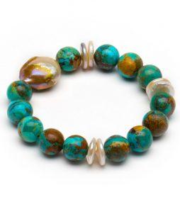 PearlKingmanTurquoisebracelet