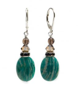 Russian-Amazonite-&-Swarovski-Crystal-Earrings