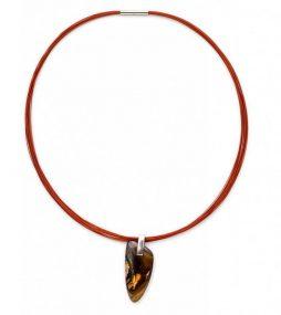 Boulder Opal Pendant necklace on color wire
