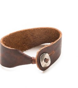 Wide cuff Bison leather bracelet