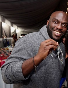 Omar Dorsey wearing Jennifer Reeves