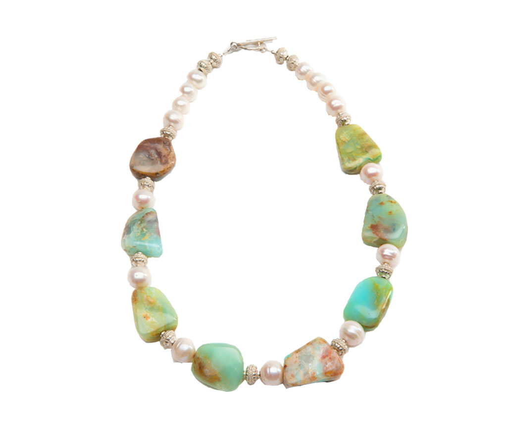 Brazilian Beauty, Brazilian Opal, White Pearl, Jewelry