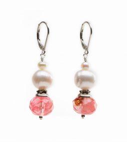 Cherry Quartz Earrings, Unique Earrings