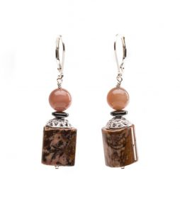 moonstone earring, Agate earrings
