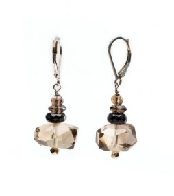 Smoky quarts earrings