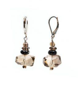 Smoky quarts earrings