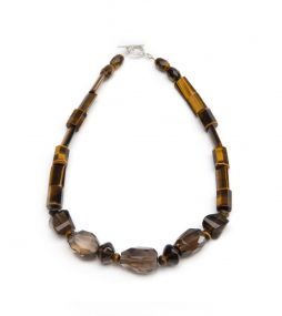 Sensational chunky faceted Quartz pairs with various shape of Tiger's Eye