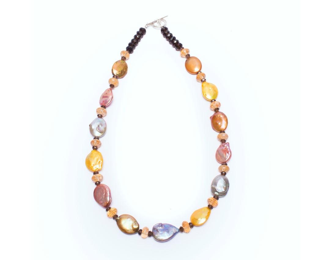 Smoky quartz necklace, Pearl Necklace, Unique Necklace